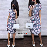 Женский летнее платье-миди в расцветках с цветочным принтом (в расцветках), фото 8