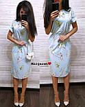 Женское легкое летнее платье с поясом (расцветки), фото 8