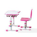 Комплект парта і стілець-трансформери FunDesk Sole Pink, фото 4