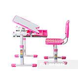 Комплект парта і стілець-трансформери FunDesk Sole Pink, фото 5