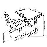 Комплект парта і стілець-трансформери FunDesk Sole Pink, фото 7