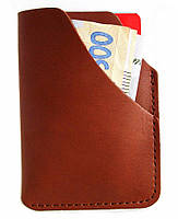 Мини картхолдер портмоне кошелек кирпичный цвет.
