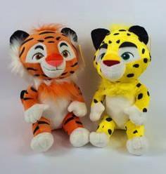Мягкая игрушка Тиг и Лео. Музыкальные. Поют песенку из мультика. 25 см