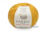 Gazzal Baby Cotton, Горчичный №3447