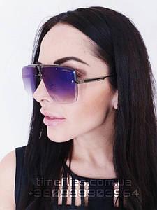 Женские солнцезащитные очки Carrerа реплика с фиолетовым градиентом