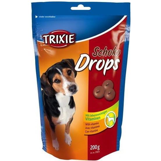 Лакомство для собак и щенков trixie Drops шоколад