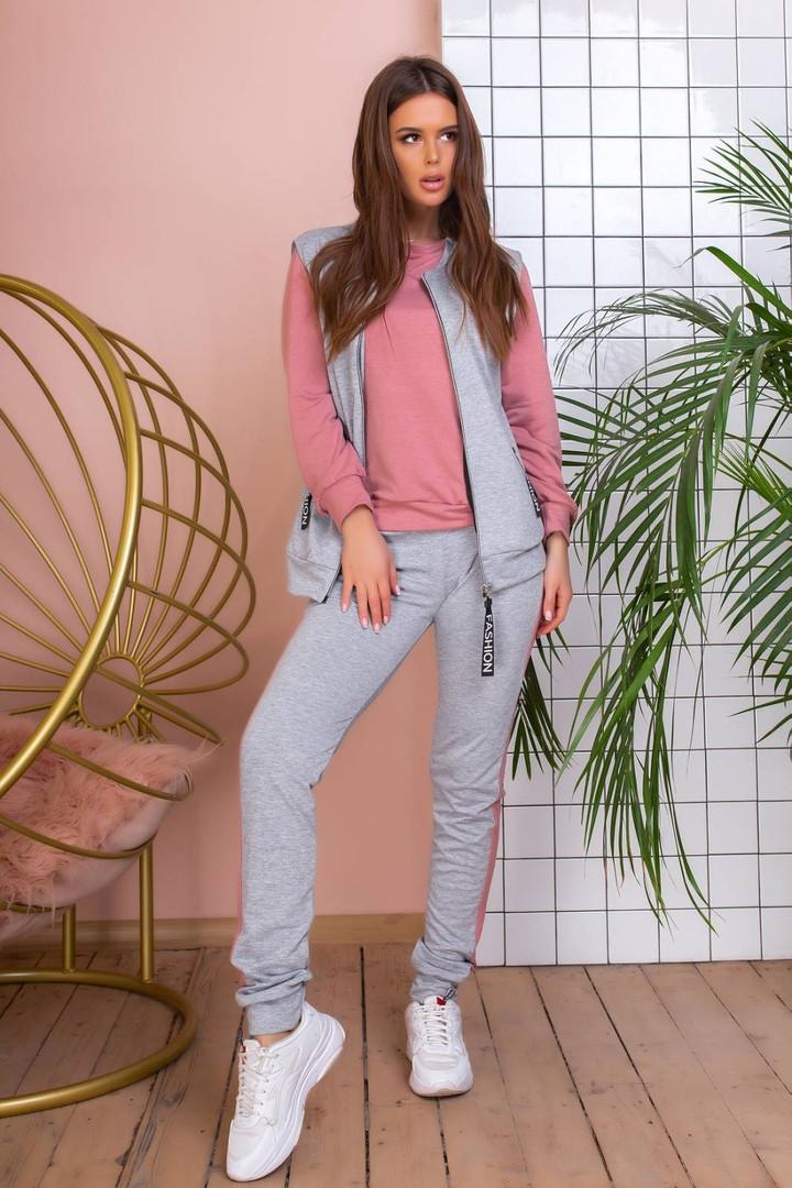 Женский спортивный костюм с жилеткой  размеры SML