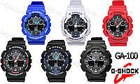 Спортивные часы Casio G-Shock GA 100 тёмный циферблат