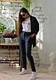 Удлиненный пиджак в полоску, фото 8