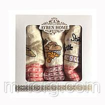 Набор кухонных вафельных полотенец 3 шт. 70*40 см хлопок Турция, фото 2