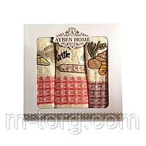 Набор кухонных вафельных полотенец 3 шт. 70*40 см хлопок Турция, фото 3