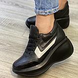 Кеди на платформі Inshoes чорні, фото 2