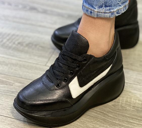 Кеди на платформі Inshoes чорні
