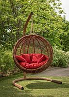 Кресло кокон из ротанга для сада Арена