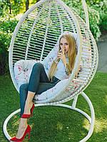 Кресло подвесное из ротанга Кит качеля-кокон