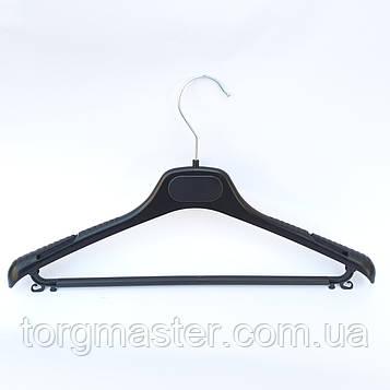 Вешалки черные с перекладиной пластиковые, 40см