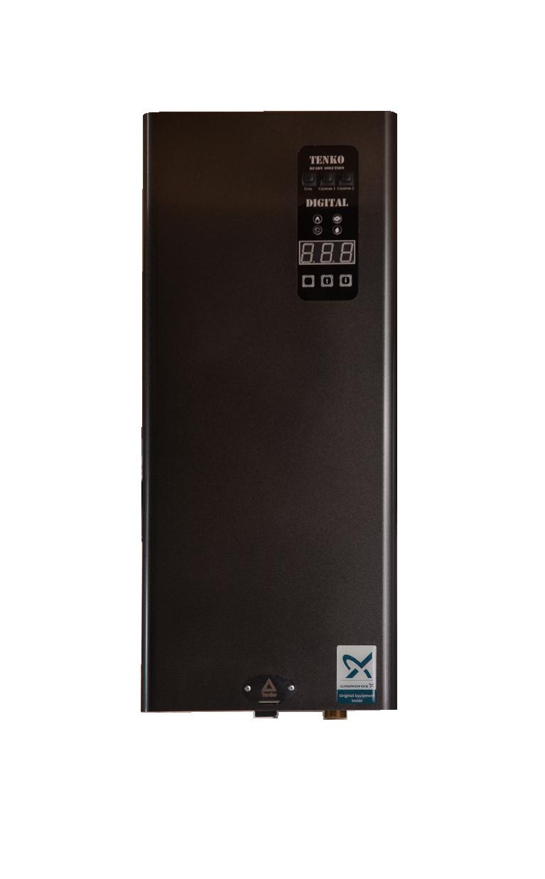 Котел 9 кВт 380V електричний Tenko з насосом GRUNDFOS Digital Standart (SDKE)