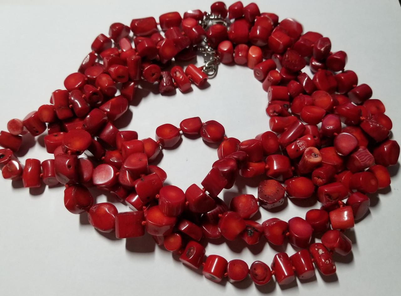 Намисто Червоний корал 47 см