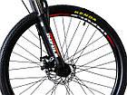 Велосипед спортивний Impuls 26 RIO чорно-помаранчевий, фото 3