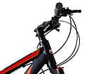 Велосипед спортивний Impuls 26 RIO чорно-помаранчевий, фото 4