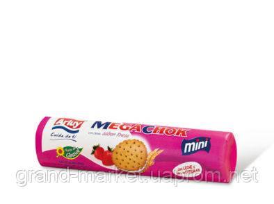 Печенье сэндвич Arluy Megachok с клубничной начинкой 160 г