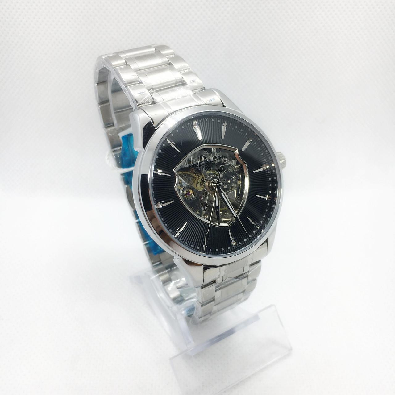 Часы мужские механические MegaLith 8210M, цвет серебро с черным ( код: IBW313SB )