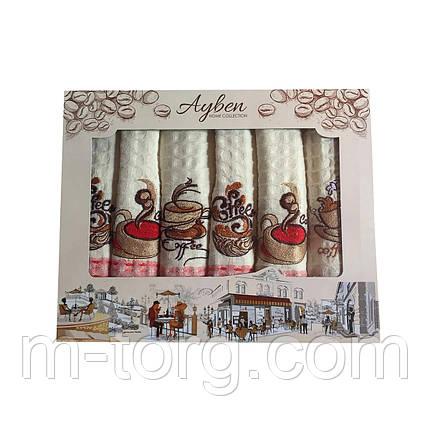 Набор кухонных вафельных полотенец 6 шт. 70*40 см хлопок Турция, фото 2