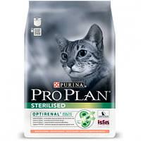 Сухой корм Purina Pro Plan Cat Sterilised Salmon для стерилизованных кошек, с лососем, 400 г