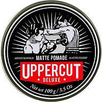 Матовая помада для волос средней фиксации Uppercut Deluxe Barbers Collection Matt Pomade