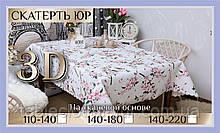 Скатерть клеенка 3D 110-140 см «Сакура»