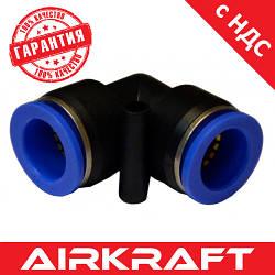 Соединение цанговое для полиуретановых шлангов PU/PR (Г-обр., шланг) 8мм AIRKRAFT SPV08