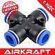 Соединение цанговое для полиуретановых шлангов PU/PR (Х-обр., шланг) 10мм AIRKRAFT SPZA10, фото 2