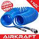 Шланг спиральный полиуретановый 5,5*8мм L=20м AIRKRAFT AHC46-D (для компрессора, пневматический, воздушний), фото 2