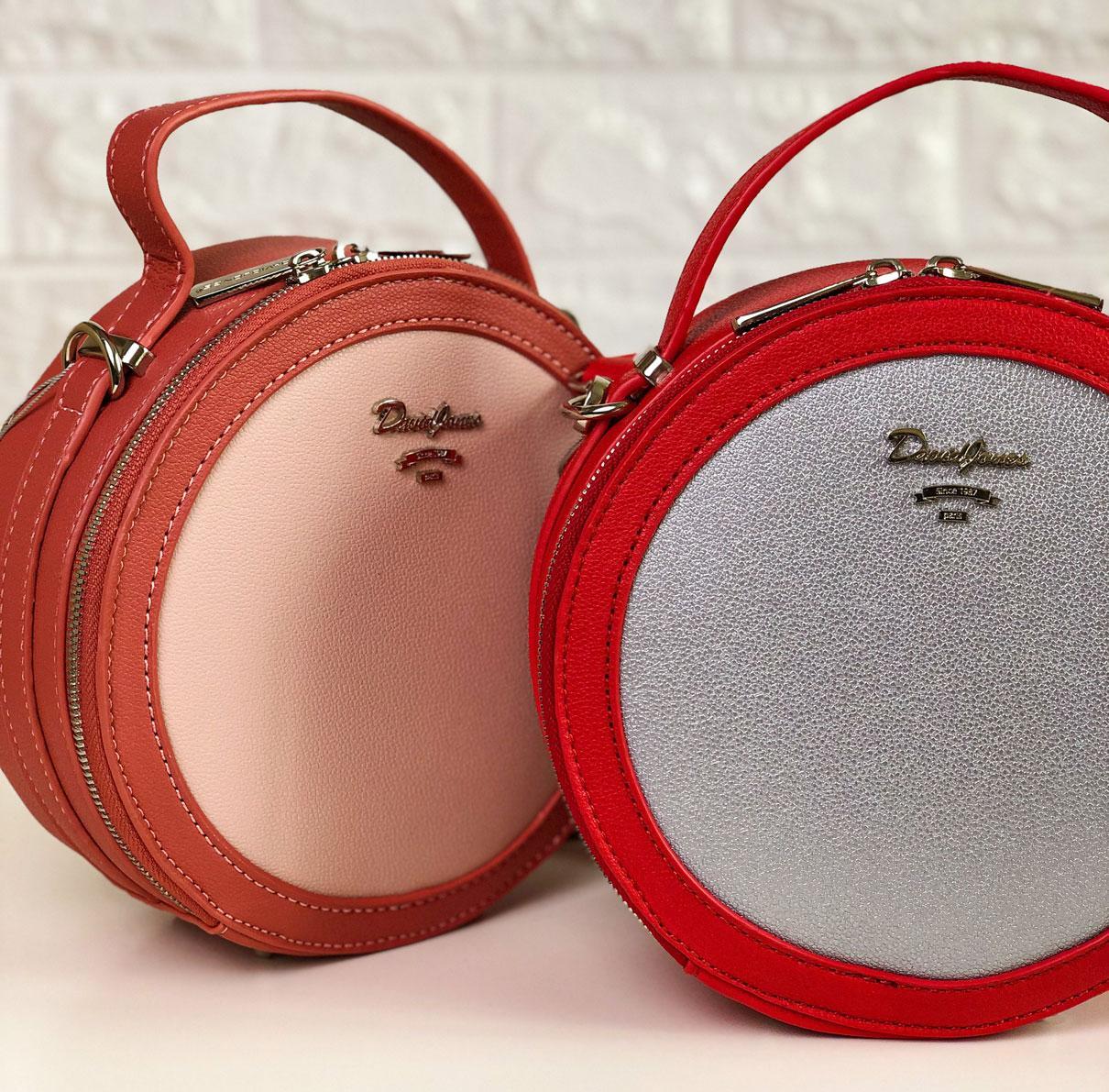 Круглая женская сумка David Jones СМ4055Т