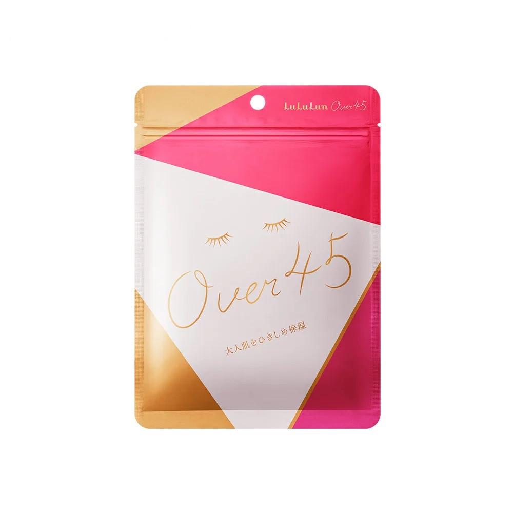 Lululun Over 45 Camelia Pink Маска ежедневный уход 45+ для лифтинга и увлажнения, 7 шт.