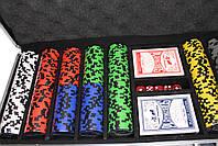 "Набор для покера ""Elite Poker Tournament 500"" фишки с номиналом, фото 2"
