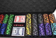 "Набор для покера ""Elite Poker Tournament 500"" фишки с номиналом, фото 3"