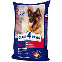 Сухой корм Клуб 4 Лапы Adult Active All Breeds Premium для взрослых собак всех пород, 14 кг