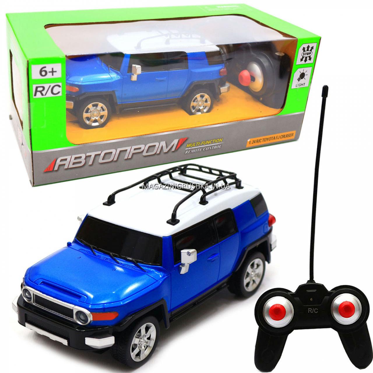 Игрушка машина автопром на радиоуправлении Тойота Toyota FJ Cruiser Синий (8811)