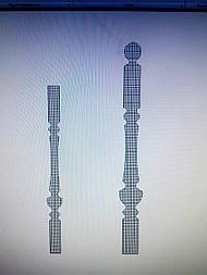 Заглавный столбы с шаром и родной балсиной L-60