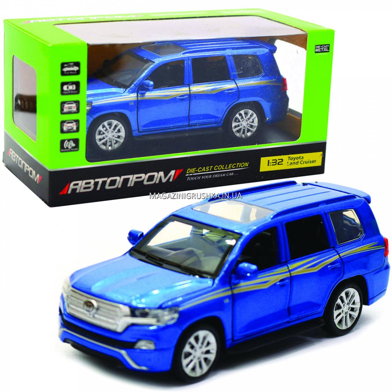 Машинка игровая автопром «Toyota Land Cruiser» металл, 14 см, (свет, звук, двери открываются) 6608