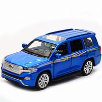 Машинка игровая автопром «Toyota Land Cruiser» металл, 14 см, (свет, звук, двери открываются) 6608, фото 4