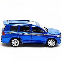 Машинка игровая автопром «Toyota Land Cruiser» металл, 14 см, (свет, звук, двери открываются) 6608, фото 5
