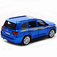 Машинка игровая автопром «Toyota Land Cruiser» металл, 14 см, (свет, звук, двери открываются) 6608, фото 6
