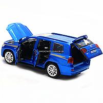 Машинка ігрова автопром «Toyota Land Cruiser» метал, 14 см, (світло, звук, двері відкриваються) 6608, фото 7