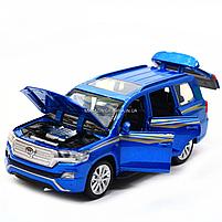 Машинка игровая автопром «Toyota Land Cruiser» металл, 14 см, (свет, звук, двери открываются) 6608, фото 8