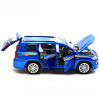 Машинка ігрова автопром «Toyota Land Cruiser» метал, 14 см, (світло, звук, двері відкриваються) 6608, фото 9