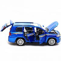 Машинка игровая автопром «Toyota Land Cruiser» металл, 14 см, (свет, звук, двери открываются) 6608, фото 9