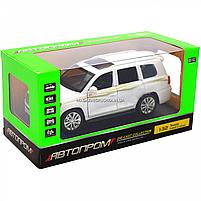 Машинка игровая автопром «Toyota Land Cruiser» Белая со световыми и звуковыми эффектами (6608), фото 3
