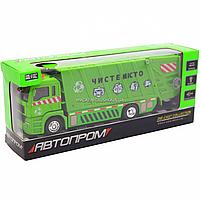 Машинка игровая автопром «Мусоровоз» (зеленый), 20х5х7 см (7824), фото 2